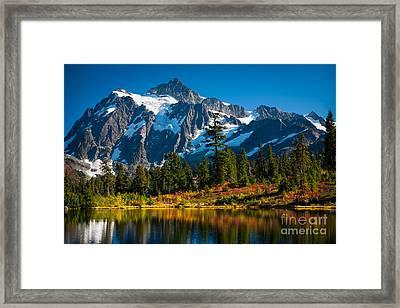 Majestic Mount Shuksan Framed Print