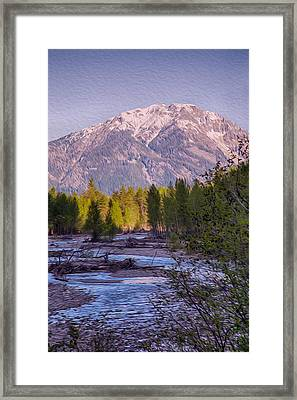 Majestic Mountain Morning Framed Print by Omaste Witkowski