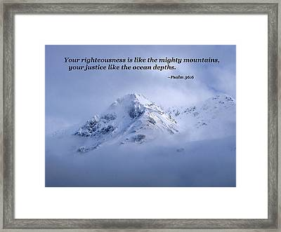 Majestic Mountain Scene Framed Print