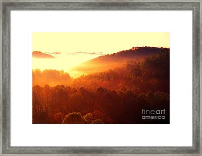 Majestic Mountain Sunrise Framed Print by Thomas R Fletcher