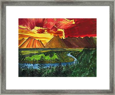 Majestic Mountains Framed Print by Beverly Marshall