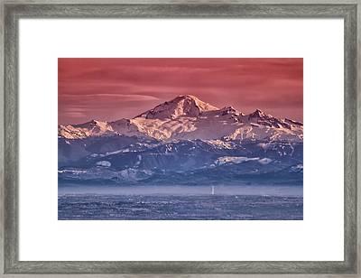 Majestic Mt Baker Framed Print by Eti Reid
