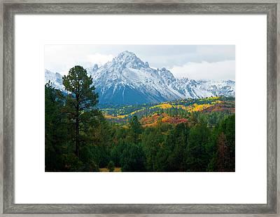Majestic Mt. Sneffels Framed Print