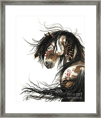 Majestic Mustang Horse Framed Print by AmyLyn Bihrle