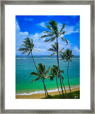 Majestic Palm Trees Framed Print