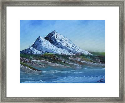 Majestic Peaks Framed Print by Jennifer Muller