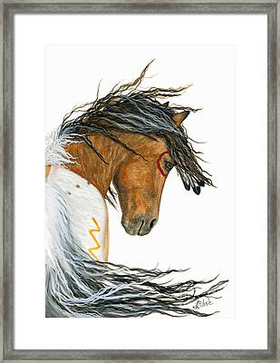 Majestic Pinto Horse 110 Framed Print by AmyLyn Bihrle