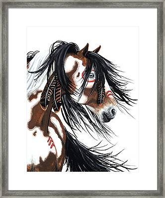 Majestic Pinto Horse Framed Print by AmyLyn Bihrle