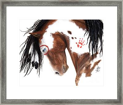Majestic Pinto Horse 129 Framed Print by AmyLyn Bihrle