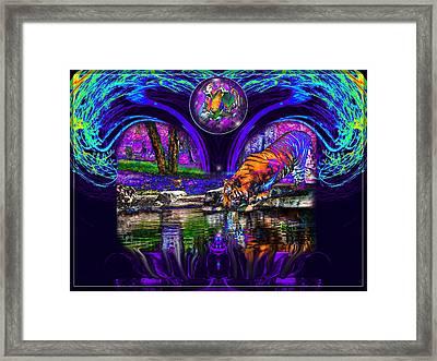 Majestic Pond Framed Print