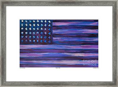 Majestic Purple Flag Framed Print by Eric  Schiabor
