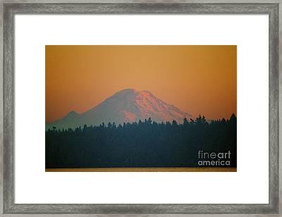 Majestic Rainier Framed Print by Terri Thompson