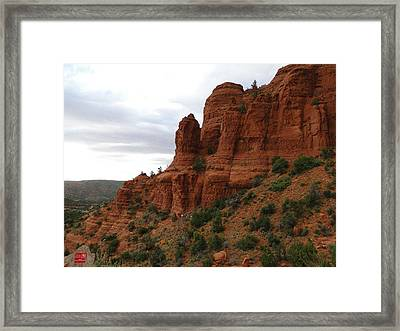 Majestic Rock Art In God's Country  Framed Print