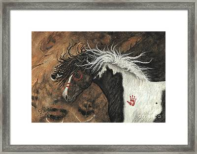 Majestic Pinto Horse 78 Framed Print by AmyLyn Bihrle