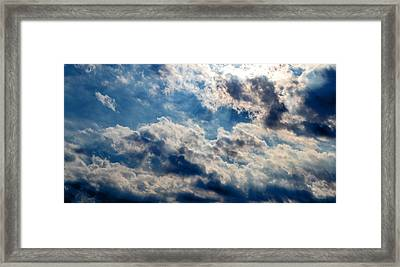 Majestic Sky Framed Print by Michelle Calkins