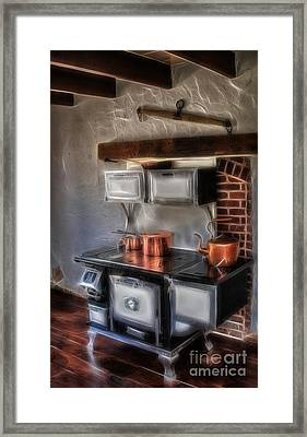 Majestic Stove Framed Print by Susan Candelario