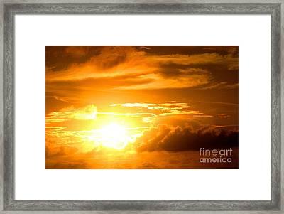 Majestic Sunset Framed Print by Kristine Merc
