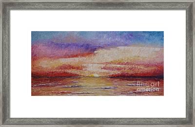 Majestic Sunset  Framed Print by Tatjana Popovska