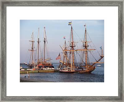 Majestic Tall Ships Framed Print by Rosanne Bartlett