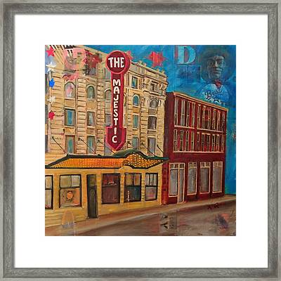 Majestic Theater Framed Print by Katrina Rasmussen