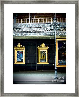 Majestic Theatre Lightpost Framed Print