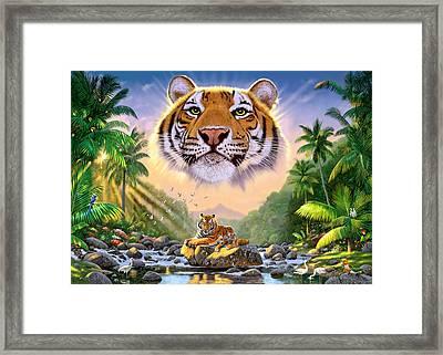 Majestic Tiger Framed Print by Chris Heitt