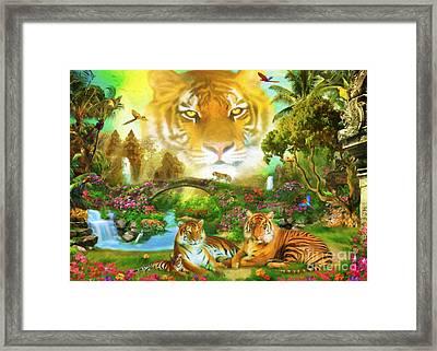 Majestic Tiger Grotto Framed Print