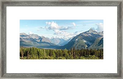 Majestic Valley As It Matanuska-susitna Framed Print by Panoramic Images