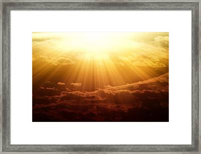 Majestic View Of Cloudy Sky During Framed Print by Robert Rosenberg / Eyeem