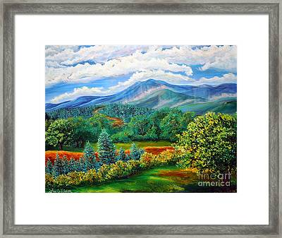 Majestic View Of The Blue Ridge Framed Print
