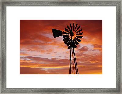Majesty In The Sky Framed Print by Shirley Heier