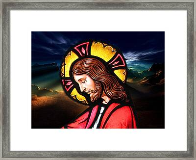 Framed Print featuring the digital art Majesty by Karen Showell