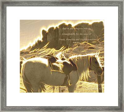 Majesty Ride Framed Print by Beverly Guilliams