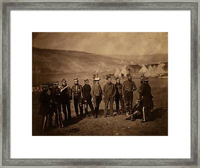 Major Burton & Officers Of The 5th Dragoon Guards Framed Print