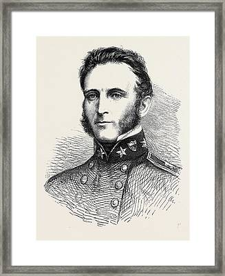 Major-general Stonewall Jackson Of The Confederate Army 1862 Framed Print