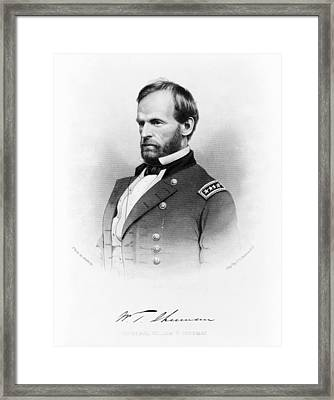 Major General William T Sherman Framed Print by Mountain Dreams