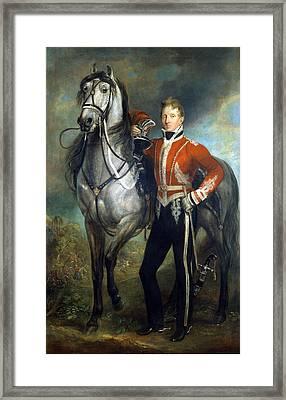 Major George Cunningham C.1820 Framed Print