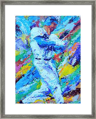 Major League Player Framed Print by Charles Ambrosio