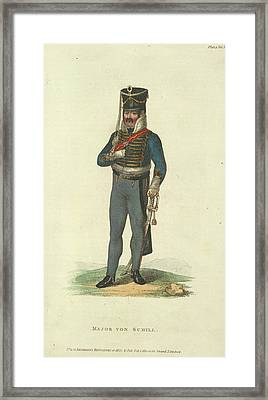 Major Von Schill Framed Print by British Library