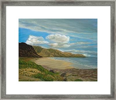 Makaha Beach Framed Print