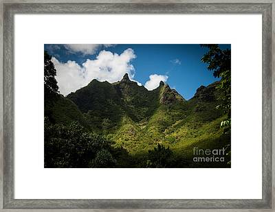 Makana Mountain Framed Print