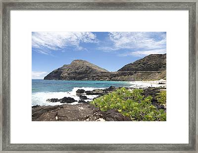Makapuu Beach Framed Print by Brandon Tabiolo
