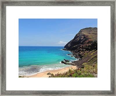 Makapu'u Beach  Framed Print by Kristine Merc