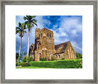Makawao Union Church 1 Framed Print