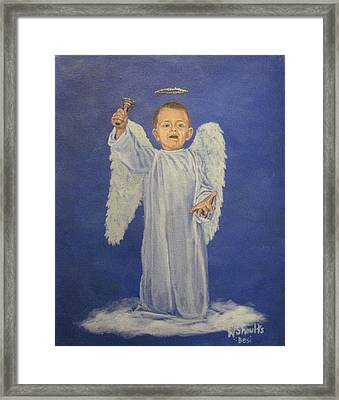 Framed Print featuring the painting Make A Joyful Noise by Wendy Shoults