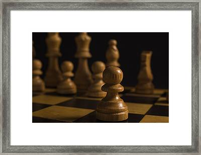 Make A Move Framed Print by Andrew Pacheco