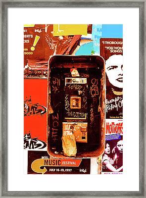 Make A Phone Call Framed Print by Elizabeth Hoskinson