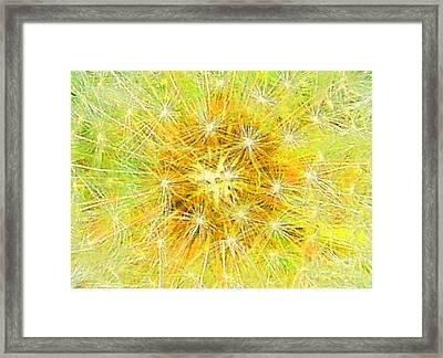 Make A Wish In Greenish Yellow Framed Print