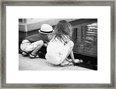 Make A Wish Framed Print by Empty Wall