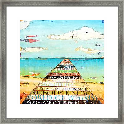 Make Every Word Count Framed Print